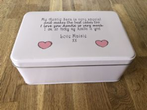 Shabby Personalised chic AUNTIE AUNTY AUNT Cake Biscuit Tin gift ANY NAME Baker - 332815664634